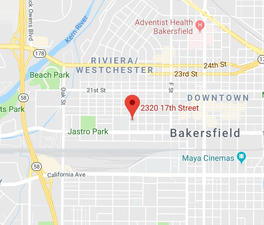 Bakersfield Office Map